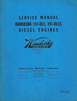 Waukesha 9390 Parts Manual