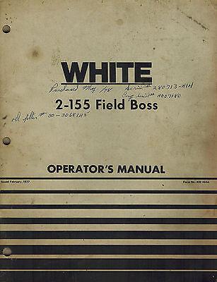 White 2-155 Field Boss Tractor Operators Manual