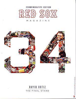 David Ortiz Final Weekend Commemorative Game Program Fenway Red Sox Big Papi