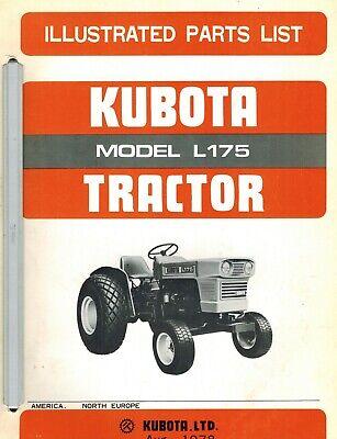 Kubota L175 Tractors Parts Manual
