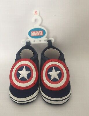 Marvel Captain America Crib/ Baby Shoes 6-9 Months. NEW