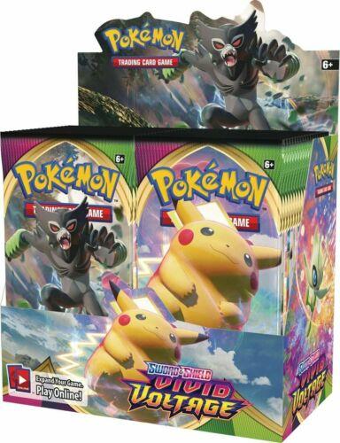 Pokemon Sword & Shield Vivid Voltage Booster Box 36 Packs SEALED IN STOCK NEW