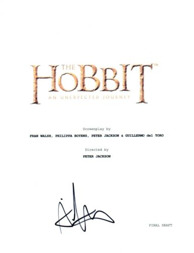 Aidan Turner Signed Autographed THE HOBBIT Movie Script  COA