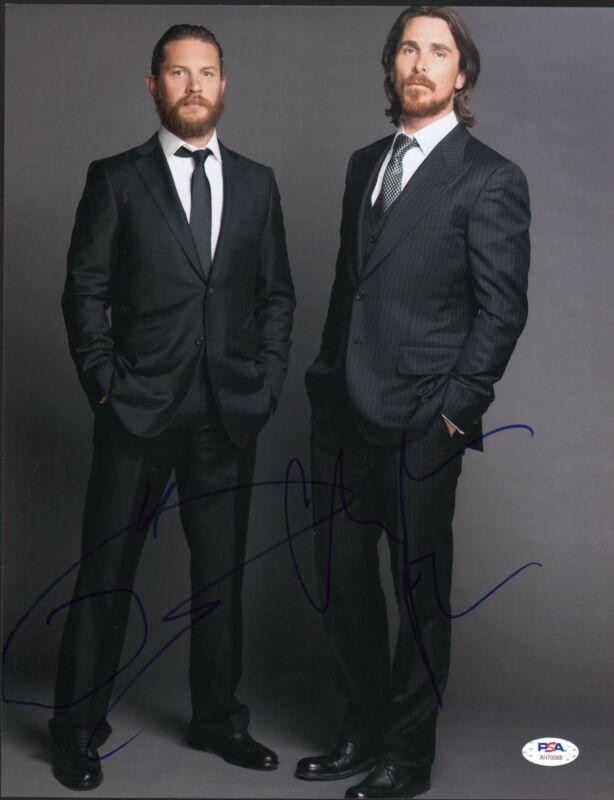 Christian Bale Tom Hardy Signed 11x14 Photo Dark Knight Batman Bane PSA DNA