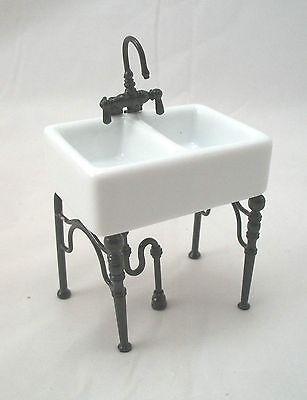 Kitchen Sink Small -  1.742/4 dollhouse miniature furniture porcelain 1/12 scale