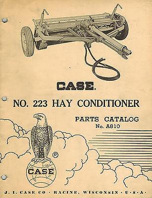Case Vintage 223 Hay Conditioner Parts Manual New