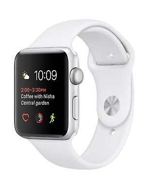 Apple Watch Series 2 38mm Silver Aluminum Case with White Sport Band GPS