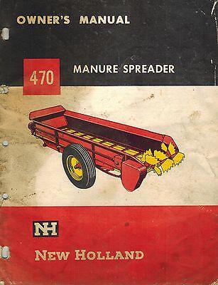 New Holland Vintage 470 Manure  Spreader Operators Manual