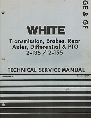 White 2-135 2-155 Tractors Trans. Brakes Axles Technical Service Manual