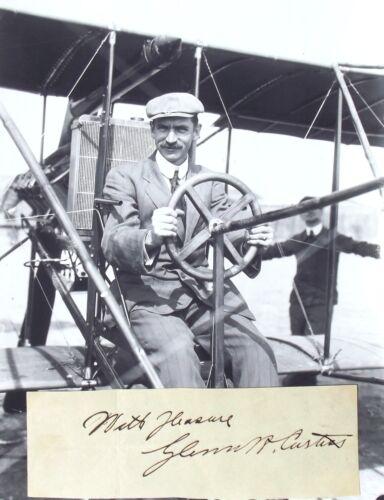 Glenn Curtiss Aviation Pioneer & Aircraft Designer Autograph