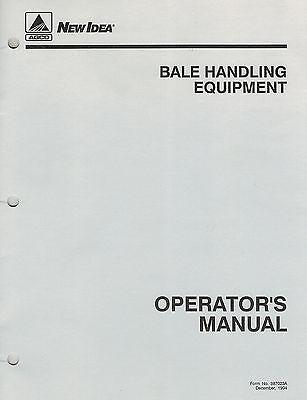 New Idea Bale Spike Fork Equipment Operators Manual New