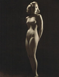 1930s Female Nude Model John Everard Vintage Art Deco Photo Gravure Print