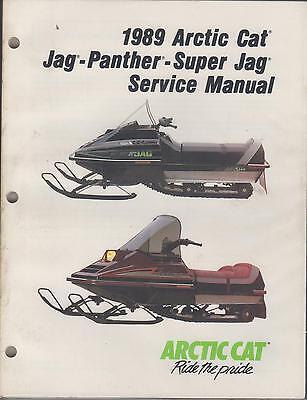 manuals arctic cat jag trainers4me 1989 arctic cat snowmobile jag panther super jag service manual used