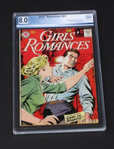 Girls Romances #63 PGX 8.0 DC Comics 1959 Tough Love & Romance