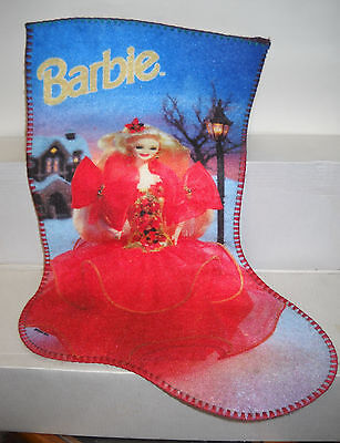 #6256 Rubies Costume Co Barbie For Girls 1993 Holiday Barbie Stocking