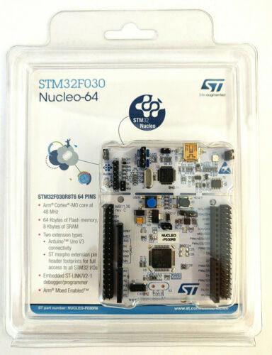 NUCLEO-F030R8 Entw.Kit | STM32F030R8 | Nucleo-64 | Arduino + ST Morpho | ST-LINK