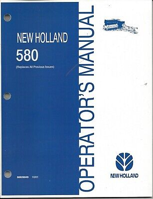 New Holland 580 Square Baler Operator Manual 86626049