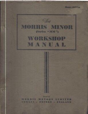 MORRIS MINOR MM & SERIES II (1948-53) ORIGINAL FACTORY WORKSHOP MANUAL