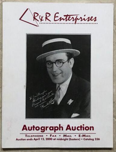 RR AUCTION CATALOG HISTORICAL, ART, NASA SPACE, SPORTS, ENTERTAINMENT TELEVISION