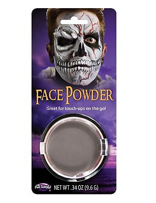 Grey Zombie Pressed Face Powder Foundation Face Makeup Halloween Theatrical - Grey Halloween Makeup