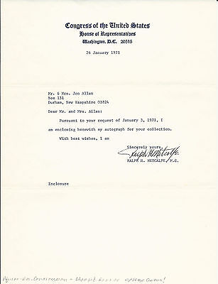 Ralph Metcalfe Signed Letter   1936 Olympic Gold Medalist   Jesse Owens D  1978