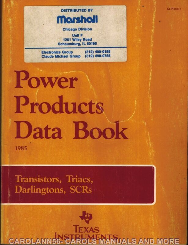 TEXAS INSTRUMENTS Data Book 1985 Power Products