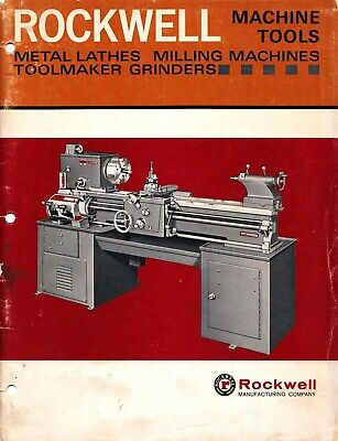 Rockwell Metal Lathes Milling Machines Toolmaker Grinders Instruction Manual