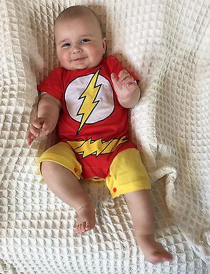Baby Jungen Superheld Strampler The Flash Rote Blitz Geschenk Geburt Kostüm (Baby Superheld Kostüm)