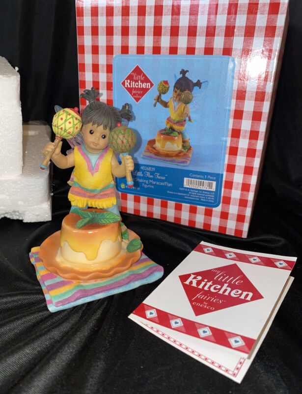 My Little Kitchen Fairies 2011 LITTLE FLAN FAIRIE Shaking Maracas 4026839 NIB