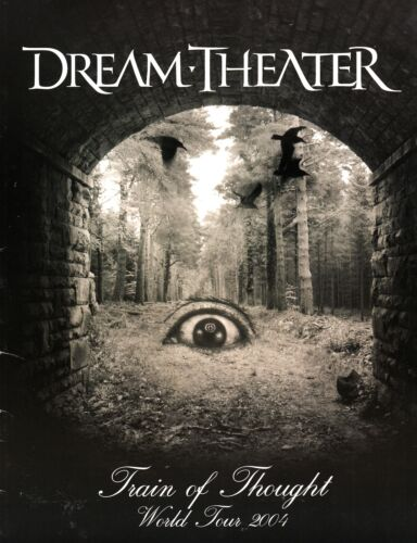 DREAM THEATER 2004 TRAIN OF THOUGHT WORLD TOUR CONCERT PROGRAM BOOK / EX 2 NMT