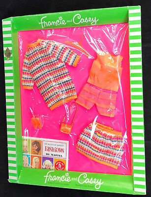"Vintage Barbie 1968 Francie Fashion ""Wild 'N Wooly""  MIB  SUPER BRIGHT!!"