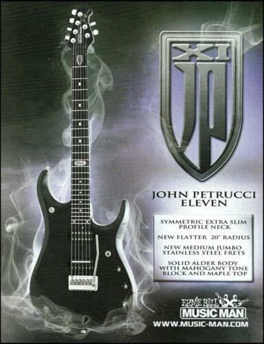 John Petrucci JPXI Signature ErnieBall Music Man guitar advertisement 8 x 11 ad