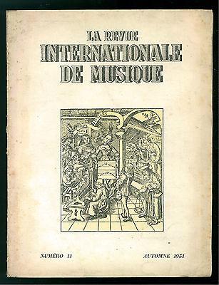 LA REVUE INTERNATIONALE DE MUSIQUE N. 11 AUTOMNE 1951 GIUSEPPE VERDI 50° MORTE