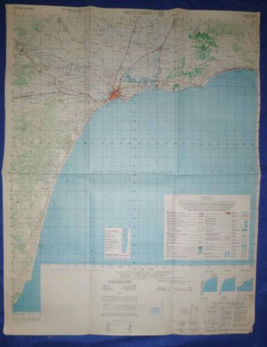 6630 iv - MAP - Phan Thiet - South China Sea - June 1972 - HWY 9 - Vietnam War