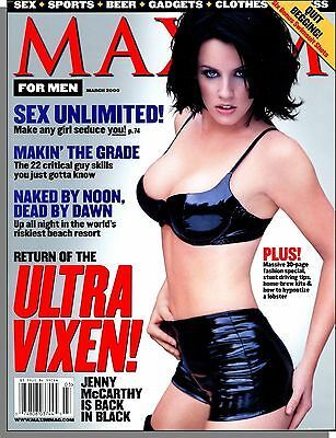 Maxim 27   2000  March   Jenny Mccarthy Is Back In Black  Make Girls Seduce You