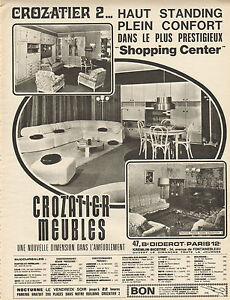 Publicit advertising 1970 crozatier meubles salon salle for Crozatier salle a manger
