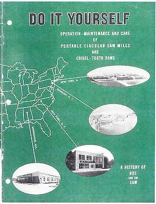 Operation Maintenance And Care Of Portable Circular Saw Mills - 1950s - Reprint