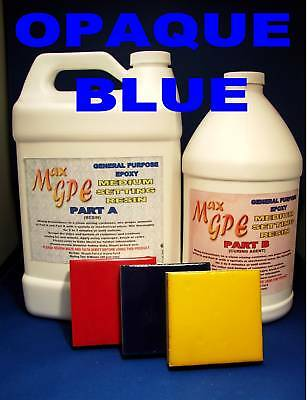 Epoxy Resin Opaque Blue Gel Coat Repair Casting Fiberglassing Coating 1.5gal