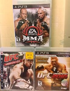 MMA/UFC Fighting games Lot
