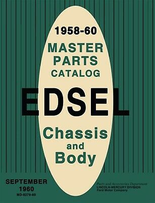 1958-1960 Edsel Master Parts Catalog