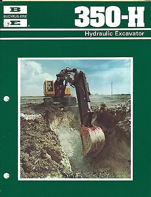 Equipment Brochure Bucyrus-erie 350-h Hydraulic Excavator C1979 7 Items E3382
