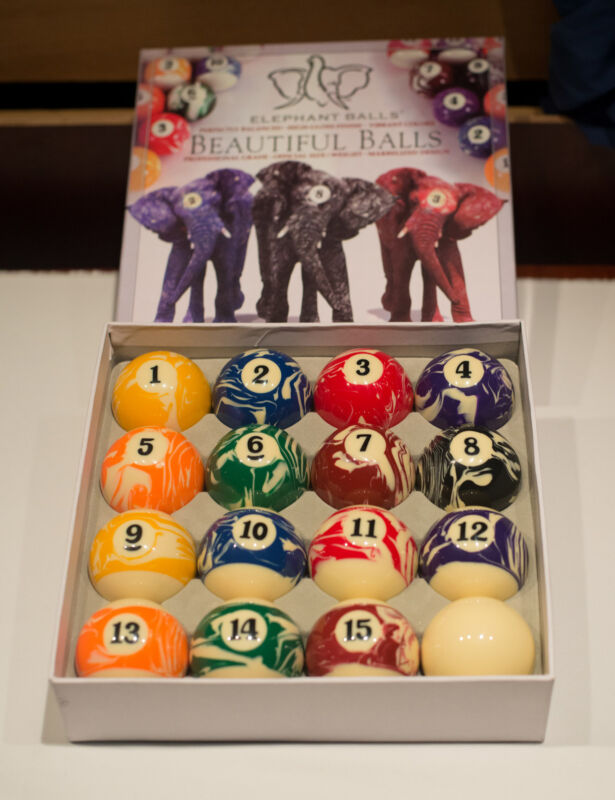 New Factory Sealed Elephant Beautiful Balls Pool Table Comple Ball Set Billiards