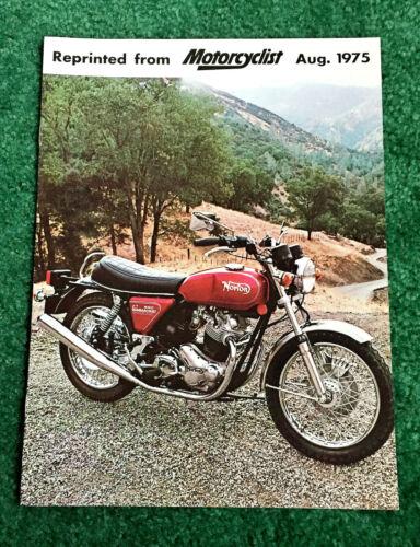 ORIGINAL NOS 1975 NORTON MOTORCYCLE BROCHURE 850 COMMANDO MK III INTERSTATE NVT