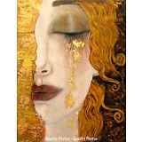 "Freya's Tears of Gold 8.5x11"" Photo Print In Style of Gustav Klimt Portrait Art"