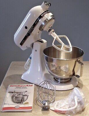 KitchenAid KSM90 White 10 speed 4.5 Quart Tilt Head Ultra Power Stand Mixer USA