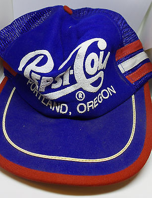 Vintage Pepsi Cola Portland Oregon One Size Fits All Made in USA