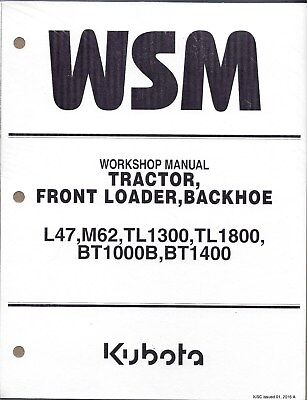 Kubota L47 M6 Tractor Loader Backhoe Workshop Service Repair Manual 9y111-13680