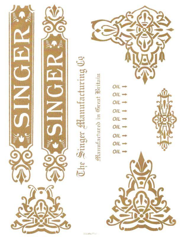 Singer Model 31- Commercial Sewing Machine Restoration Decals Full Set
