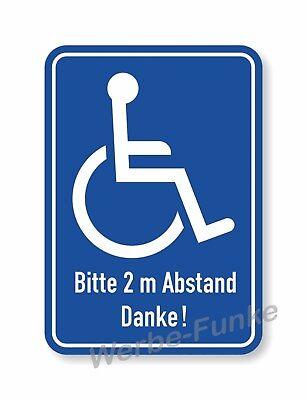 hl - Fahrer  2 m Abstand 10 x 15 cm Rollstuhlfahrer (Aufkleber Rolls)