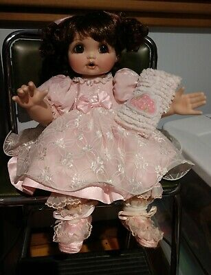 "Marie Osmond Doll Baby Adora Belle 12"" Porcelain Seated COA #2302/5000~ NO Box"